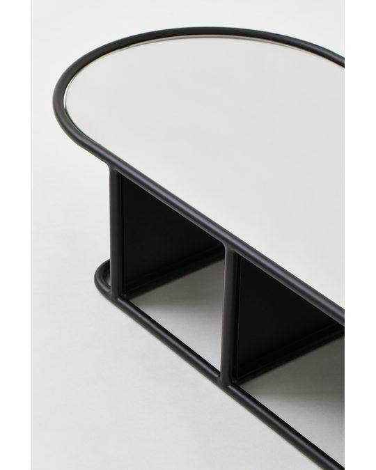 H&M HOME Shelved Mirror Black