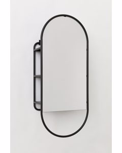 Spiegel mit Regal Schwarz