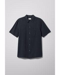 Barry Short Sleeve Shirt Navy Blue