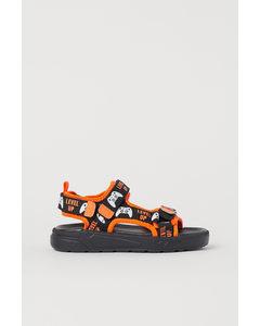 Sandalen aus Scuba Schwarz/Level Up