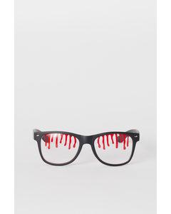 Bril Met Print Zwart