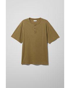 Teodor Henley T-shirt Dark Green
