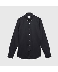 Garment Dyed Twill Shirt Button Down Navy