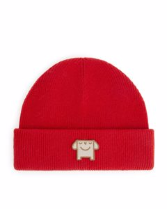 Wool Blend Beanie Red