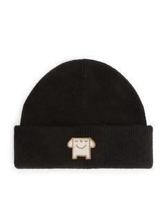 Wool Blend Beanie Black