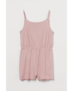 Pyjama-Playsuit aus Pointelle Hellrosa