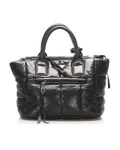 Prada Bomber Nappa Leather Satchel Black