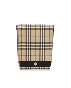 Burberry House Check Canvas Crossbody Bag Brown