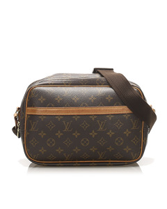 Louis Vuitton Monogram Reporter Pm Brown