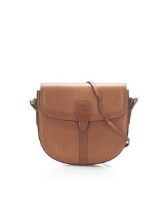 Burberry Leather Crossbody Bag Brown