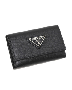 Prada Saffiano Key Holder Black