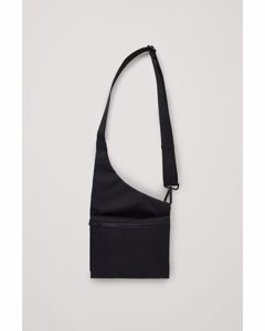 Curved Crossbody Bag Black