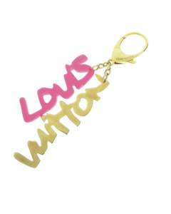 Louis Vuitton Graffiti Bag Charm Pink