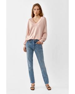 Lara V-neck Sweater  Light Pink