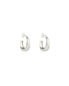 Kristine Small Hoops Silver