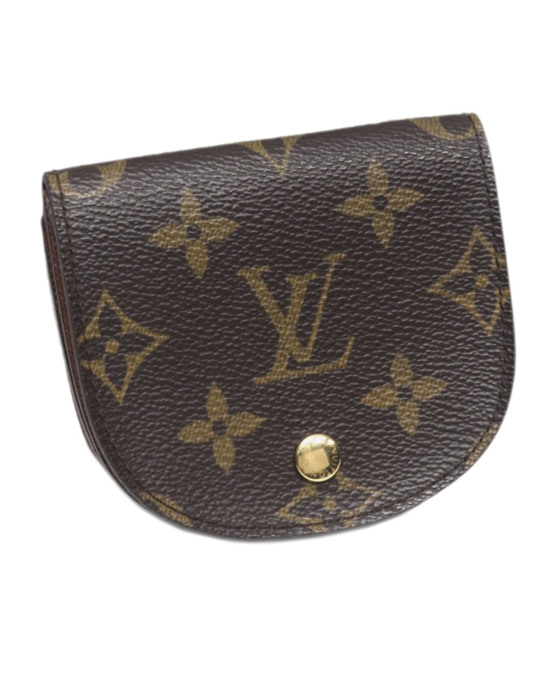 Louis Vuitton Louis Vuitton Monogram Porte Monnaie Gousset Coin Pouch Brown
