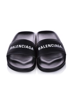 Balenciaga Piscine Flat Sandal Black
