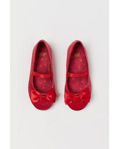 Ballerinaskor Röd