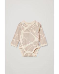 Printed Babygrow Light Brown / Beige