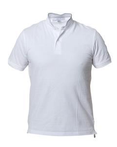 Band Collar Poloshirt White