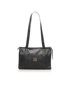 Mcm Visetos Shoulder Bag Black