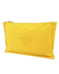 Hermes Trousse Flat Yachting Gm Yellow