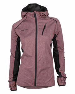 Thermic Hood Jacket Women Burgundy/black