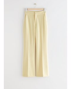 Tailored Press Crease Trousers Light Yellow