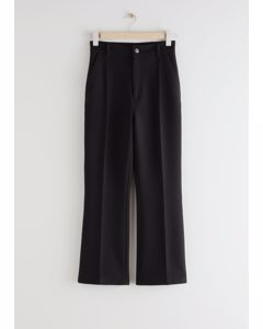 Tailored Press Crease Trousers Black