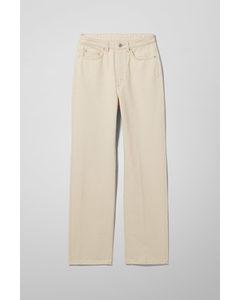 Rowe Extra High Straight Jeans Ecru