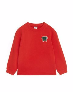 Relaxed Sweatshirt Red