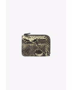 Zip Wallet Snake Print