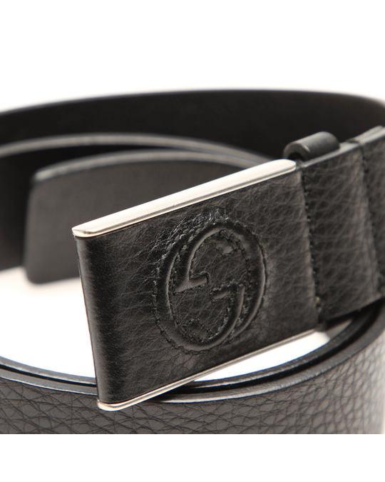 Gucci Gucci Leather Belt Black