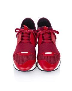 Balenciaga Race Runner Monochrome Nylon Sneaker Red