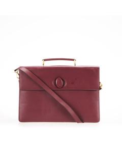Cartier Must De Cartier Leather Business Bag Red