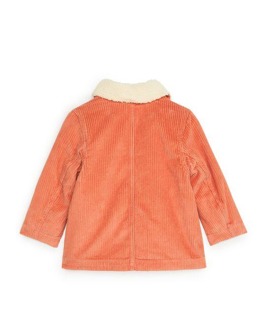 Arket Cordjacke mit Teddyfutter Orange