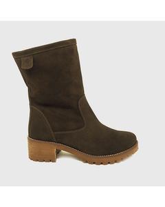 Dakota Heeled Boot In Split Leather