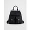 Perry Nylon Flap Backpack Black