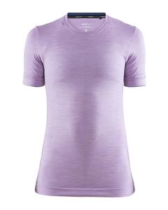 Fuseknit Comfort Rn Ss W - Flare Melange-purple-s