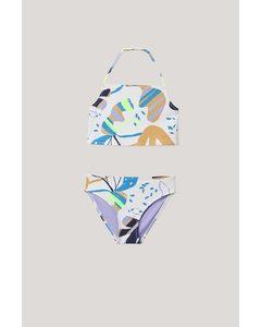 Printed Halter Top Bikini Multicolour