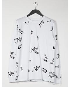 Aw17 Dewayne T-shirt W.all Over Print - White