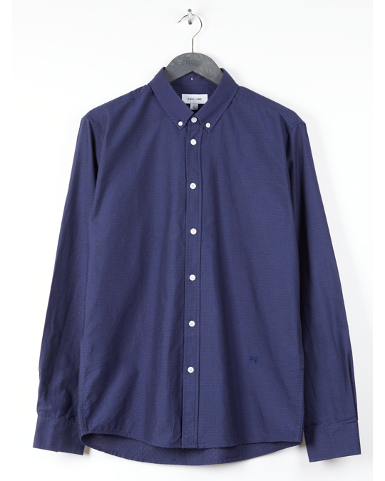 Soulland Aw17 Quentin Button Down Shirt - Navy