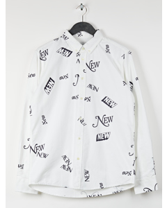 Aw17 All Shirt With All Over Print - White