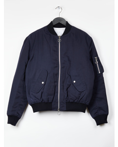 Aw17 Thomasson Bomber Jacket - Navy