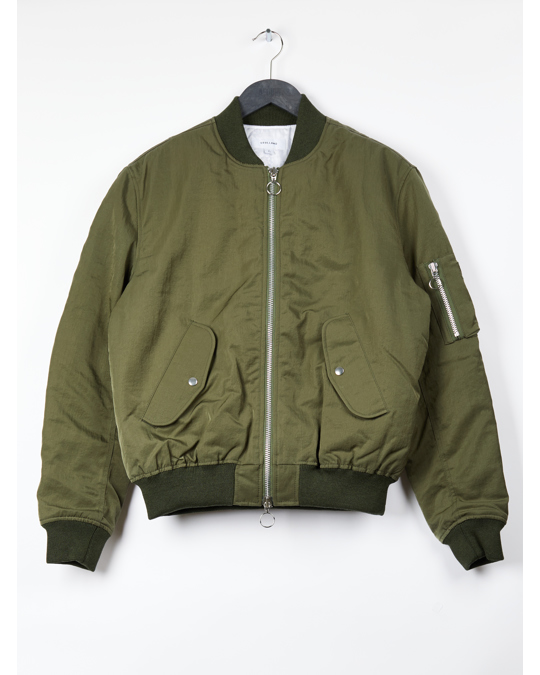 Soulland Aw17 Thomasson Bomber Jacket - Army Green