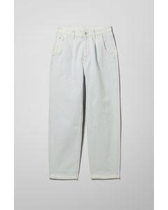 Fold Pleat Jeans Blue