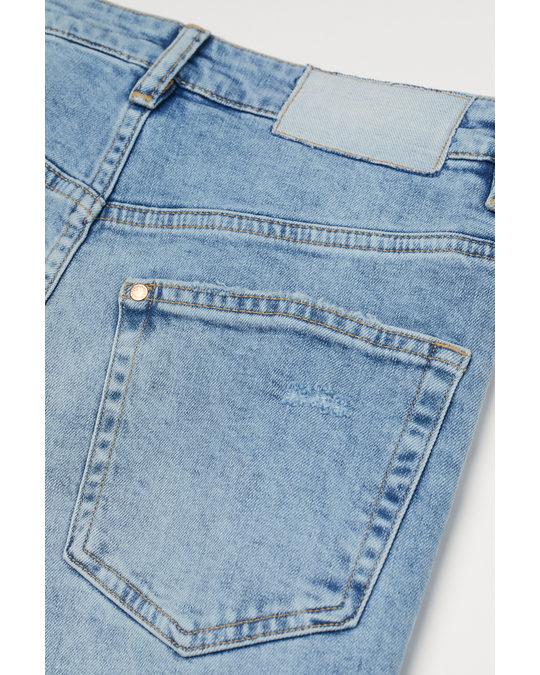 H&M Vintage Straight High Jeans Denim Blue