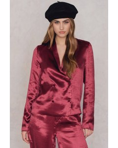 Metallic Blazer Dark Red