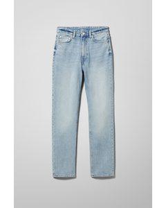 Case Jeans mit hohem Bund und geradem Bein Mohnblau