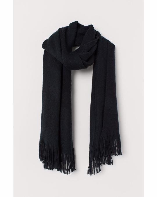 H&M Fringed scarf Black